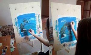 Пальмы с парусниками